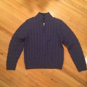 Brooks Brothers 1/4 zip boy's sweater M